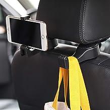 Amooca Gancho de cabeça para assento de carro Pacote com 4 organizadores de armazenamento de cabide universal para bolsa d...