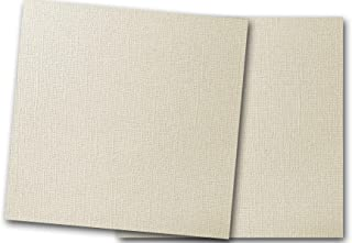 Premium Pearlized Metallic Textured Dove Ivory Card Stock 20 Sheets - Matches Martha Stewart Dove - Great for Scrapbooking, Crafts, Flat Cards, DIY Projects, Etc. (12 x 12)