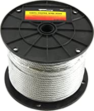 Forney 70453 Wire Rope, Vinyl Coated Aircraft Cable, 250-Feet-by-3/16-Inch thru 1/4-Inch