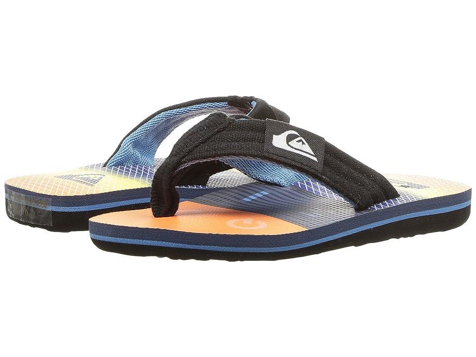 Quiksilver Kids Molokai Layback (Toddler/Little Kid/Big Kid) (Black/Orange/Blue) Boys Shoes