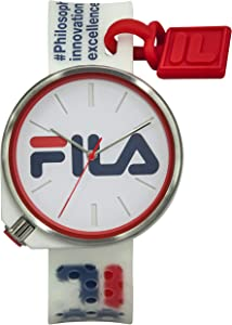 FILA White Watches for Women - Womens Watches - Mens Watches - Watches for Men - Analog Watch - Sports Watch Men - Sport Watches for Men - Wrist Watch - Unisex Watch - White Fila Watch