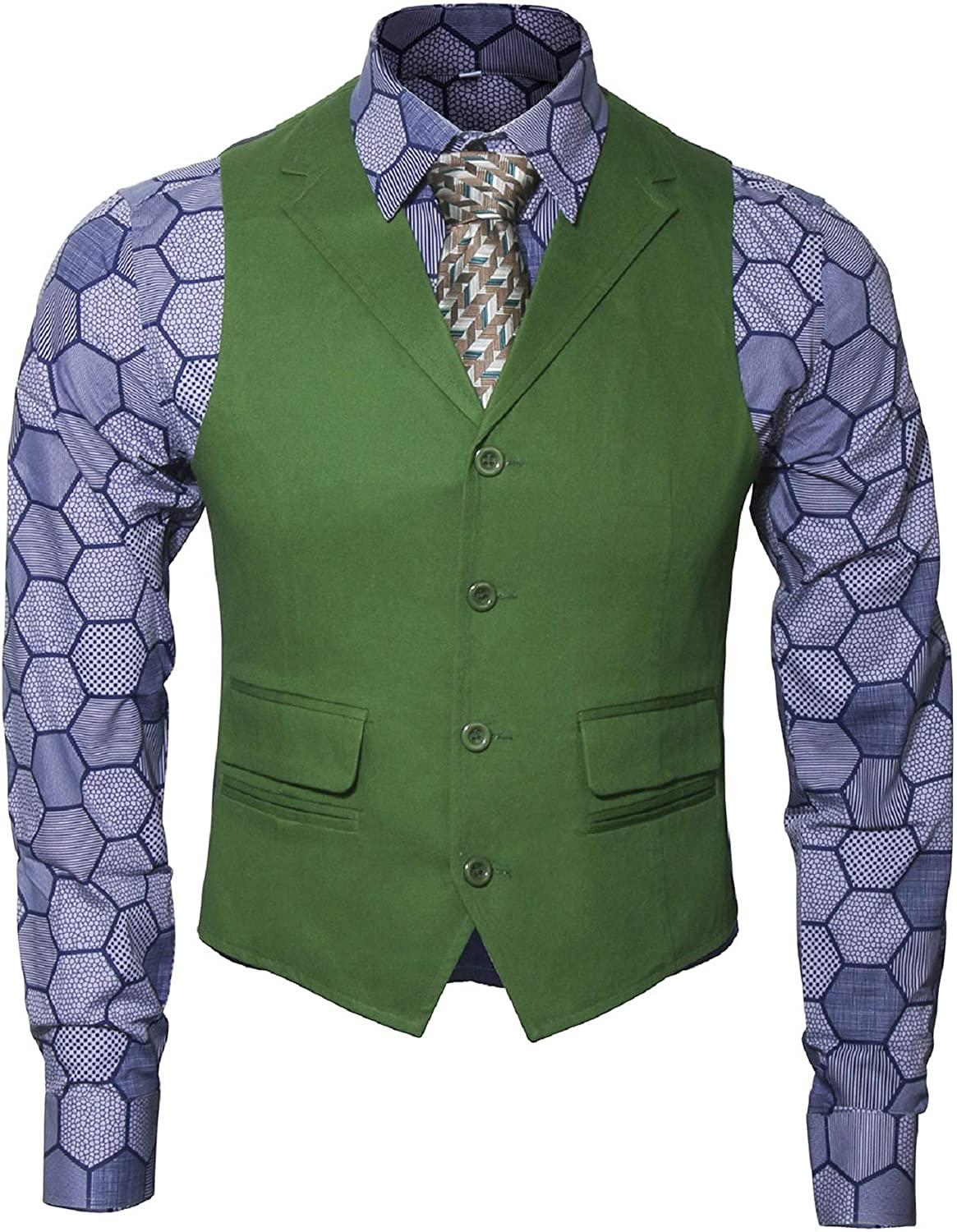 Max 85% OFF Adult Mens Knight Clown Costume Shirt All stores are sold F Suit Tie Set Vest Outfit