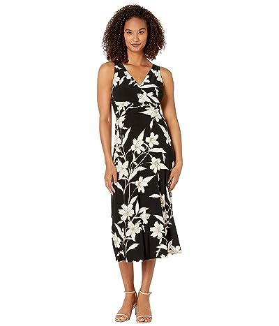 LAUREN Ralph Lauren Yanilsa Dress (Black/Colonial Cream/Multi) Women