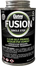 Oatey 32192 Fusion One-Step Medium-Bodied Cement, 10 oz, PVC Clear