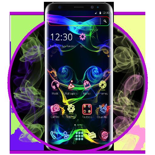 Neon Colorful Smoke 2D Theme