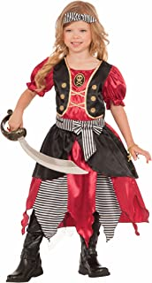 Forum Novelties Girls Buccaneer Princess Costume, Multicolor, Medium