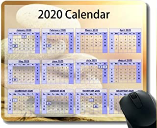 Calendar 2020 Gaming Mouse Pad Custom,Religion Zen Mouse Pad with Stitched Edge