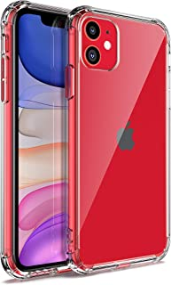 Vidafelic Phone Case for iPhone 11 6.1 inch (2019), Clear Reinforced Corners TPU Bumper, Thin Soft & HD Clear Anti-Scratch Shockproof & Dropproof Protective Cover for iPhone 11