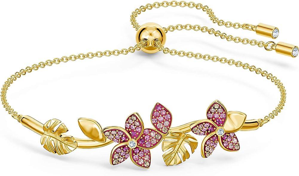 Bracciale da donna di swarovski in lega di metalli e placatura oro e cristalli swarovski multicolore 5521058