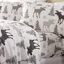 Home Fashion Designs Flannel Sheets Queen Winter Bed Sheets Flannel Sheet Set Moose Flannel Sheets 100% Turkish Cotton Flannel Sheet Set. Stratton Collection (Queen, Moose)