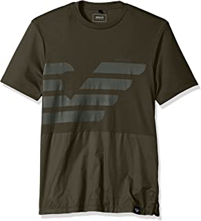 Men's Plus Size Mixed Media Tonal Eagle Tshirt