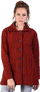 HAUTEMODA Women's Wool Buttoned Cardigan (Ad04Caz11Gy_Grey)