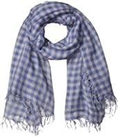 Gingham Printed Cashmere Scarf