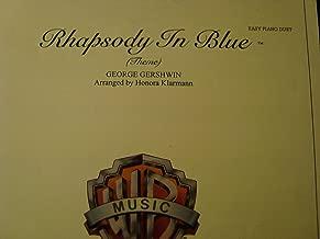 Rhapsody In Blue (Theme) / Easy Piano Duet / Gershwin