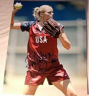 Jennie Finch Signed Autograph Sexy Legs Usa Softball Babe Huge 11x14 Photo Coa - Autographed Sports Photos