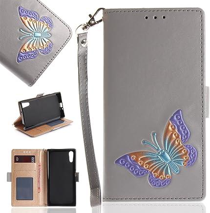 Anlike Sony Xperia XZ (5,2 Zoll) H�lle, Folio PU Leder Flip Brieftasche Schutzh�lle Wallet Case Tasche Cover Handytasche Schutzh�lle Handy Zubeh�r Lederh�lle Handyh�lle mit Bookstyle mit Standfunktion