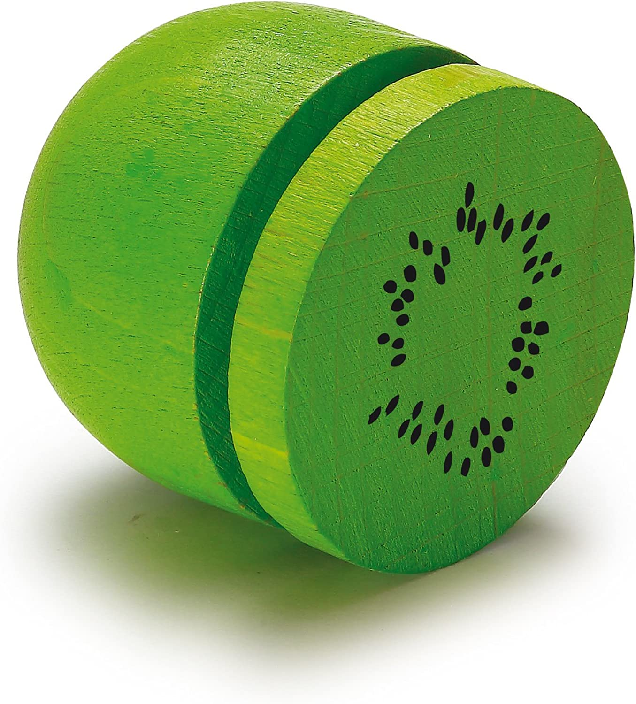 Erzi 4.0 x 3.8 cm Pretend Play Wooden Grocery Shop Merchandize Kiwi To Cut