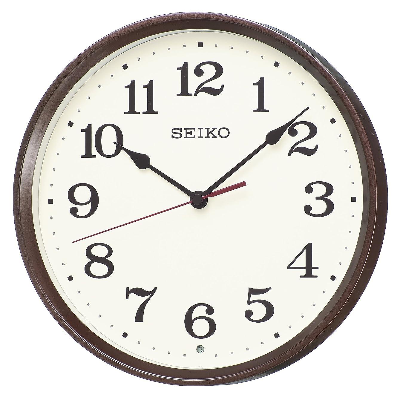 ライフル不調和苛性セイコー クロック 掛け時計 電波 アナログ 茶 メタリック KX223B SEIKO