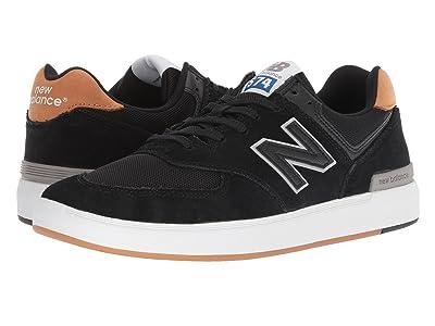 New Balance Numeric AM574 (Black/Brown) Men