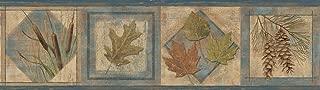Chesapeake TLL01582B Seminole Leaf Wallpaper Border, Navy