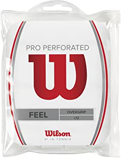 Wilson Pro Overgrip Perforated Empuñadura, 12 unidades,