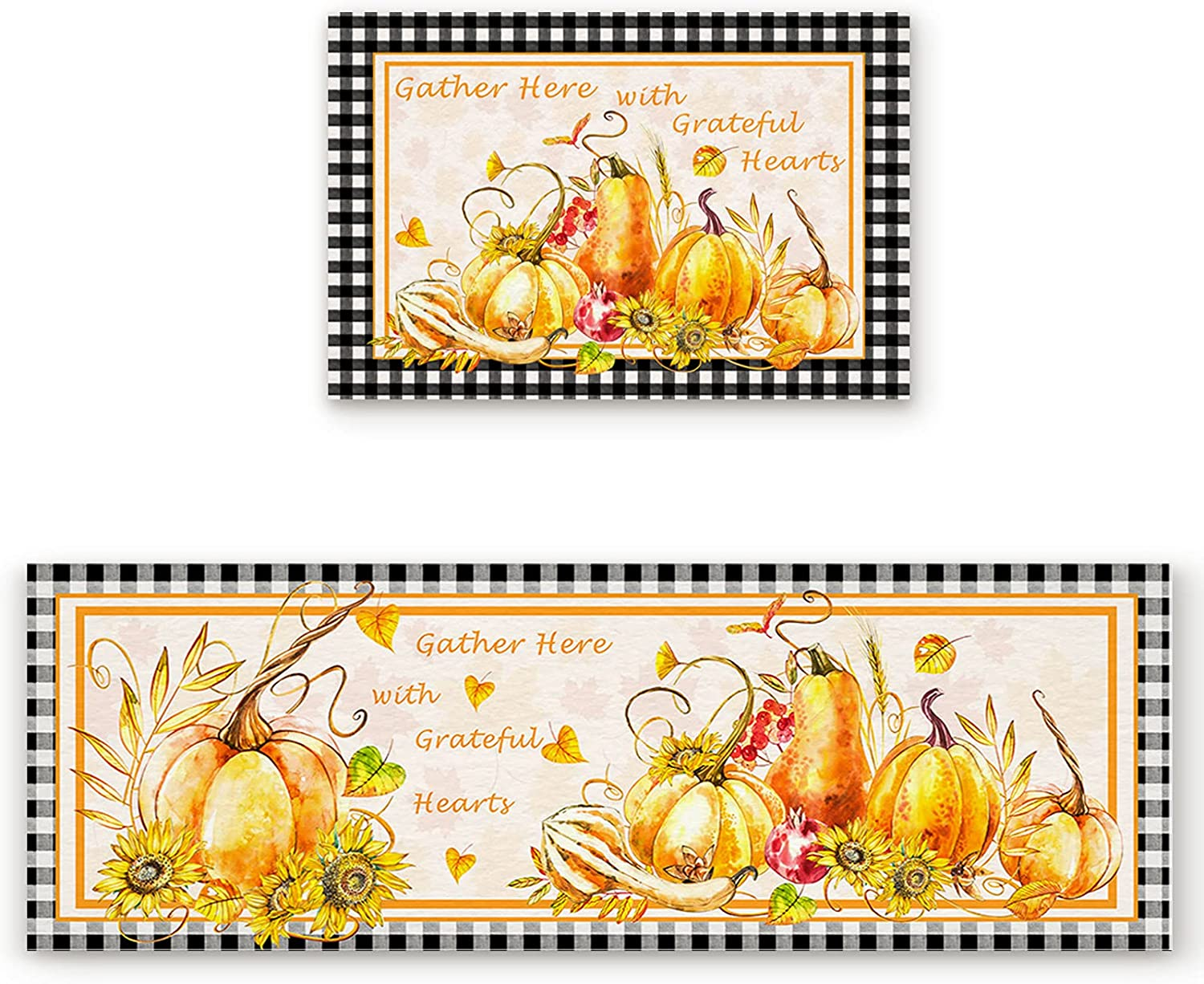 ZL Home Kitchen Rugs and Thanksgiving Mats Inventory cleanup selling sale Sunflower on Super beauty product restock quality top Pumpkin