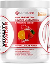 Vitality Vitamin Powder by NutraOne – Powdered Vitamin and Mineral Supplement Reds Blend (Fruit Punch - 30 ...