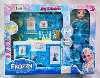 مطبخ الأميرة فروزن مع عروسة فروزن و إكسسوارات وصوت ونور من البينو