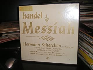 HANDEL, MESSIAH, ORIGINAL DUBLIN VERSION, HERMANN SCHERCHEN CONDUCTING, MUSIC GUILD STEREO BOX SET