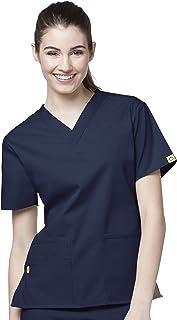 WonderWink Women's Plus Size Scrubs Bravo 5-Pocket V-Neck Top