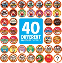 Two Rivers Coffee Flavored Coffee Pods Variety Pack Sampler, Compatible with 2.0 Keurig K Cup Brewers, 40 Count - 40 Assorted Flavor Box - No Duplicates