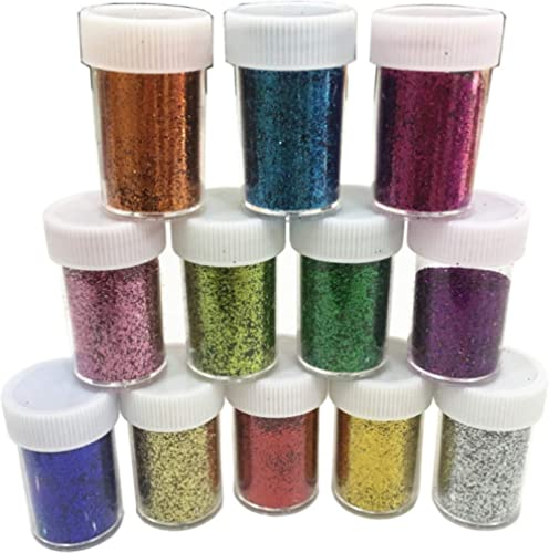 Slime Supplies Glitter Powder Sequins for Slime,Arts Crafts Extra Solvent Resistant Glitter Powder Shakers,Bulk Acryl...