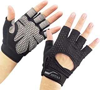 PWGN Workout Gloves Weight Lifting Gloves Palm Support Protection for Men Women, Exercise Gloves Sports for Training, Fitness, Gym, Black