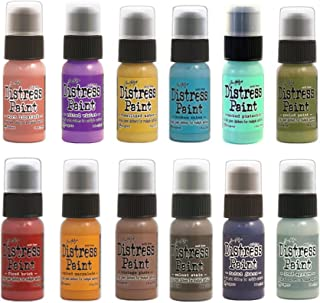 Tim Holtz Distress Paint Dabber 12 Color Bundle Winter 2017 Colors