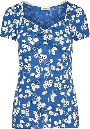 Vive Maria Fleur d'Avignon, maglietta Allover blu