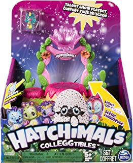 Hatchimals Colleggtibles, Talent Show Lightup Playset with an Exclusive Season 4 CollEGGtible, For Ages 5 & Up