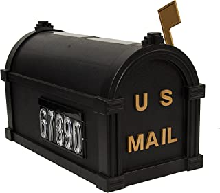 Mailbox with Solar LED House Numbers