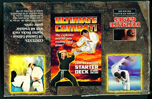 Ultimate Combat  Martial Arts Trading Card Game Starter Deck Box [Toy]