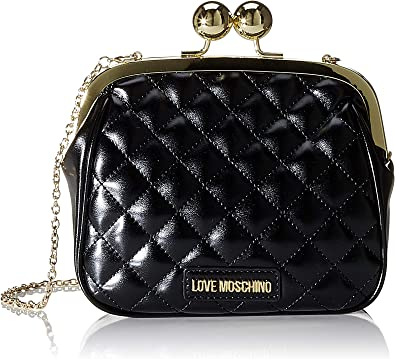 Love Moschino Borsa Quilted Nappa PU, Sac Messager Femme, Rouge, 17x19x6 Centimeters (W x H x L)