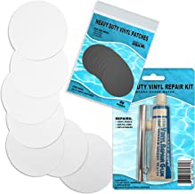 Heavy Duty White Vinyl Patch Glue Kit for Inflatable Boats, Pool Liner, Air Bed