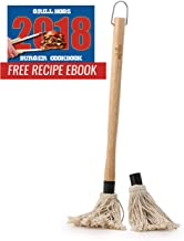 Long Handle to Keep Your Hand Away from The Heat Large mop for Quicker basting Large Rocky Mountain Goods Basting Barbecue Mop Solid Wood