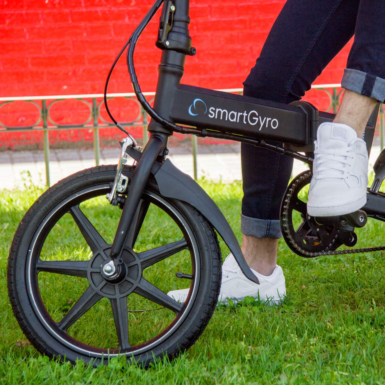 SmartGyro Ebike Black - Bicicleta Eléctrica, Ruedas de 16