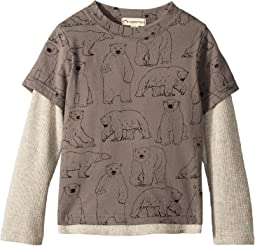 Soft Twofer Long Sleeve Polar Bear Print (Toddler/Little Kids/Big Kids)