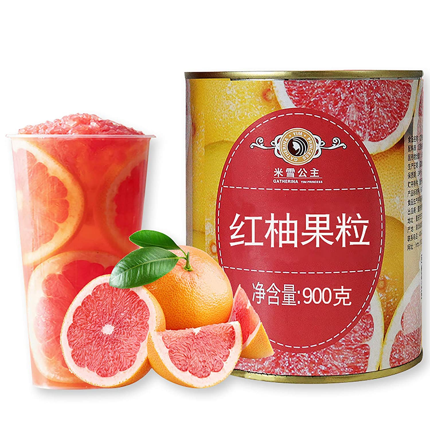 Grapefruit Pulp Canned, Red Grapefruit in 100% Fruit Juice, Can