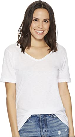Michael Stars Supima Cotton Slub Short Sleeve with Raw Edge