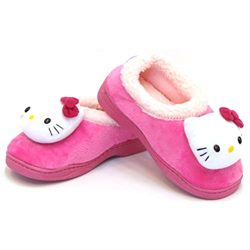 e8777ca1b Hello Kitty Kids FUR Casual Shoes for Girls Clogs Slippers Winter Warm Pink  US Size 12