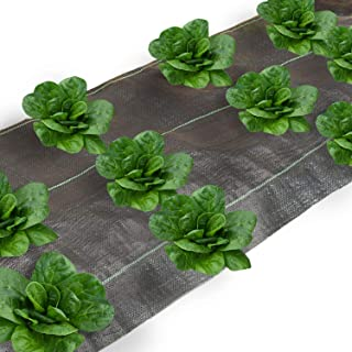 Agfabric All Purpose Folded Landscape Garden mat for Vegetables 4x25ft Heavy PP Woven Weed Barrier for Raised Bed,Soil Erosion Control and UV Resistant