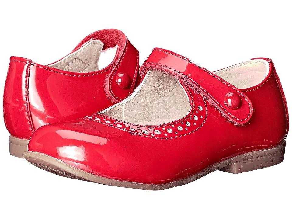 FootMates Emma (Toddler/Little Kid) (Red Patent) Girls Shoes