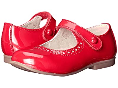 FootMates Emma (Toddler/Little Kid) (Red Patent) Girls Shoes