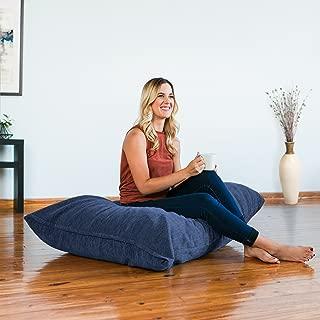 Jaxx Pillow Saxx 3.5 Foot Giant Décor Floor Pillow, Premium Chenille Cover, Navy
